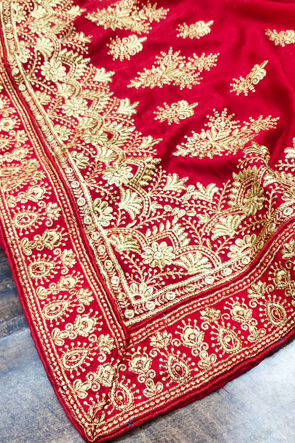 Karva chauth Special saree 2021 online Red (2)