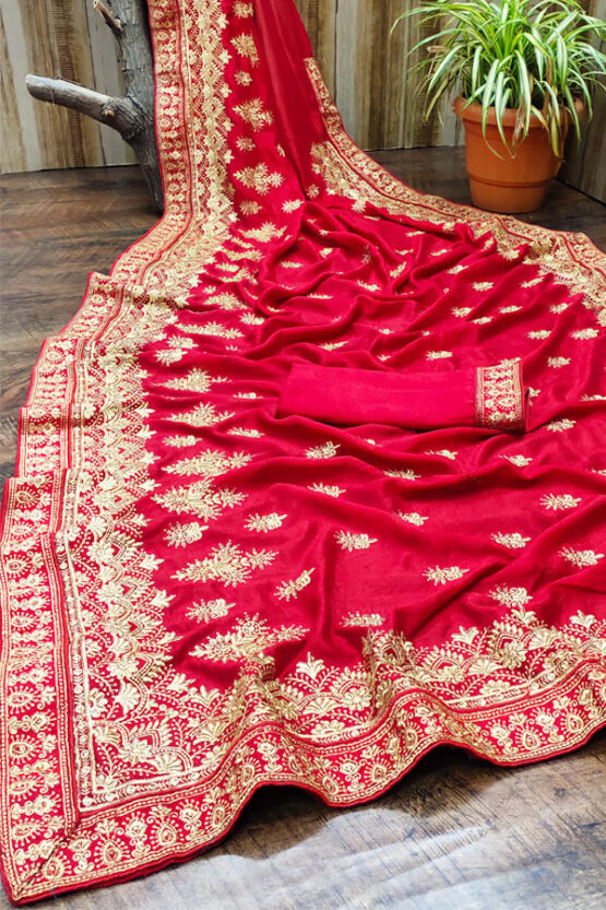 Karva chauth Special saree 2021 online Red