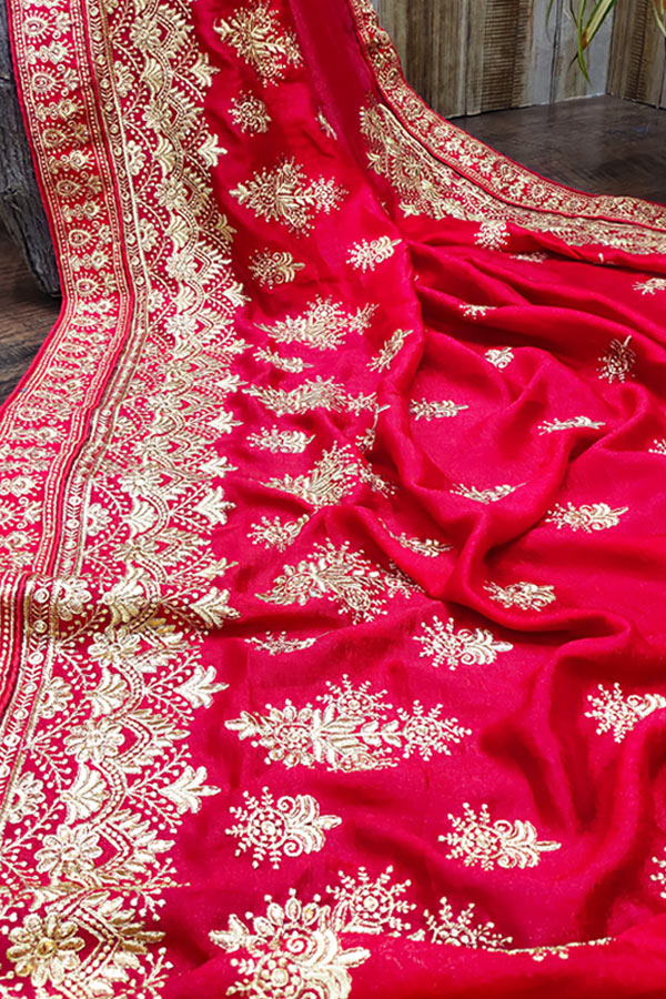 Karva chauth Special saree 2021 online Red.