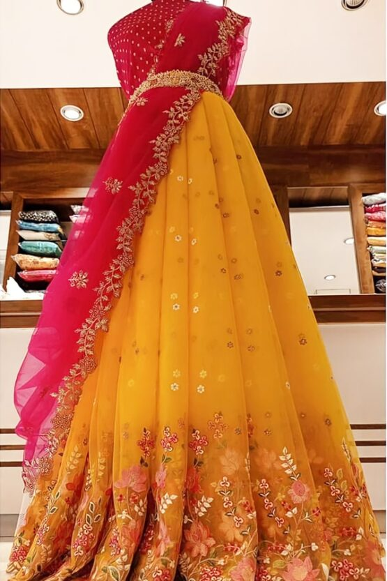 Latest Half saree designs 2021 (2)