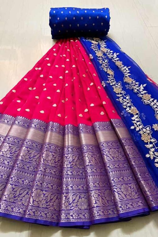 Latest half saree design 2021 red