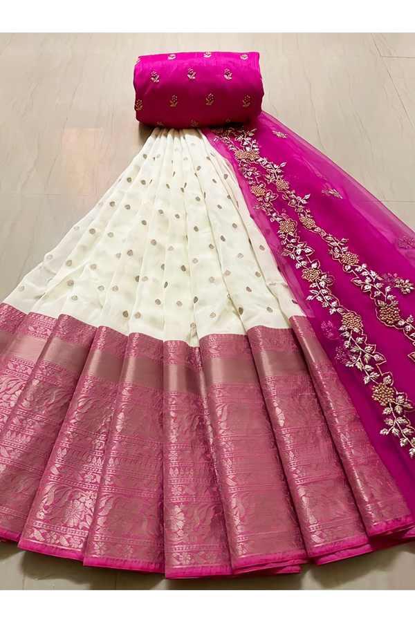 Latest half saree design 2021