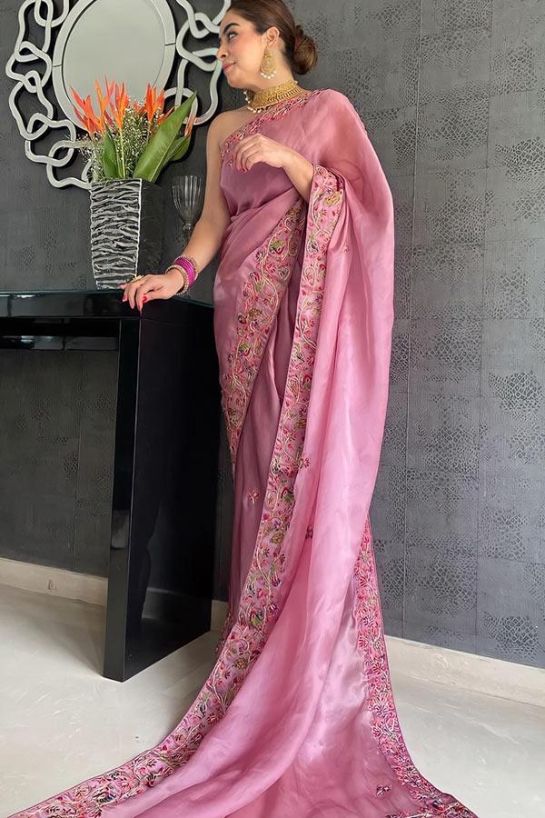 Latest new saree design 2021-2022.