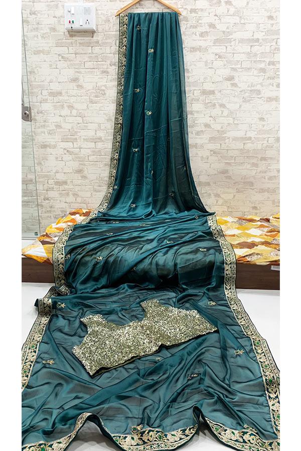 Latest saree designs 2021 Party wear .