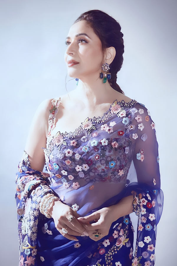 Madhuri dixit saree online shopping Blue