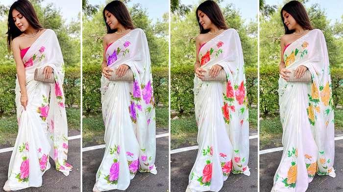 Modern farewell sarees for Teenage girl