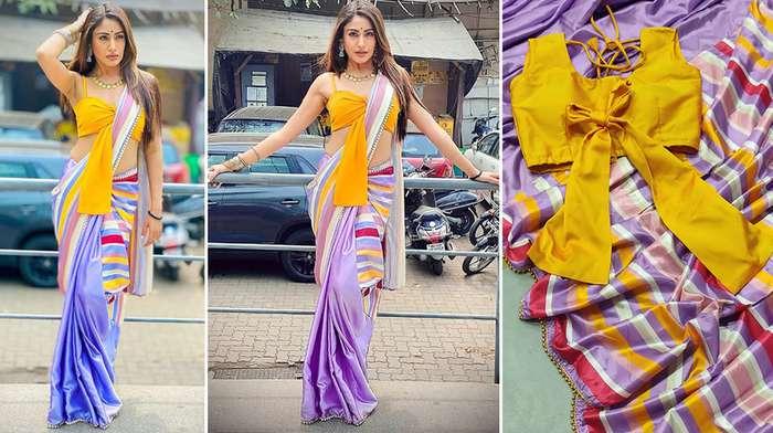 Naagin 5 Surbhi chandna Style Saree