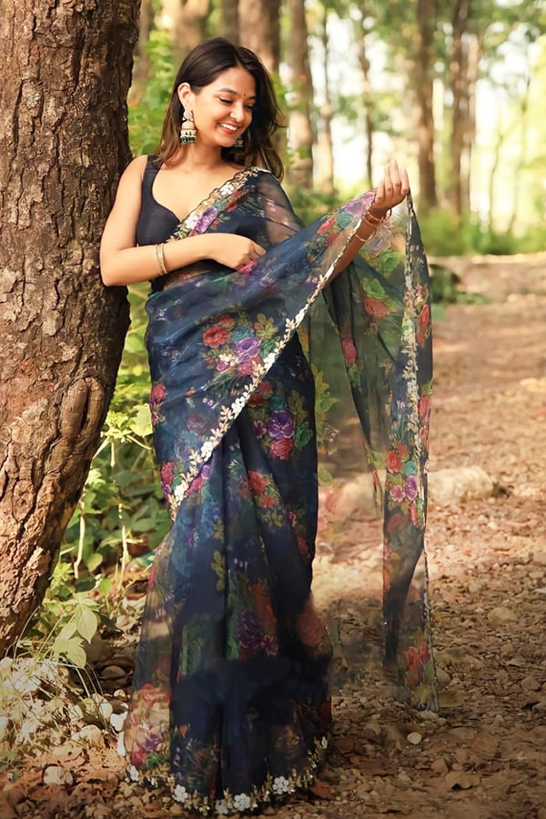 New saree design 2021 Image.