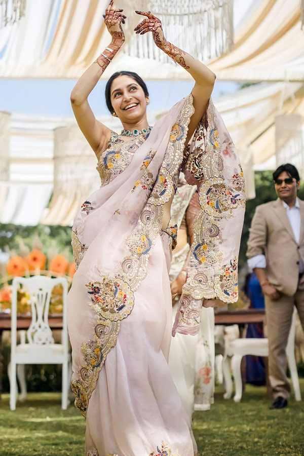 Organza silk saree for wedding (2)
