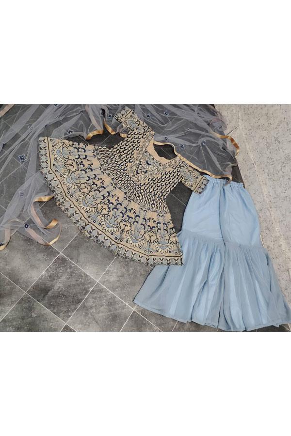 Party wear Punjabi Sharara suits online (2)