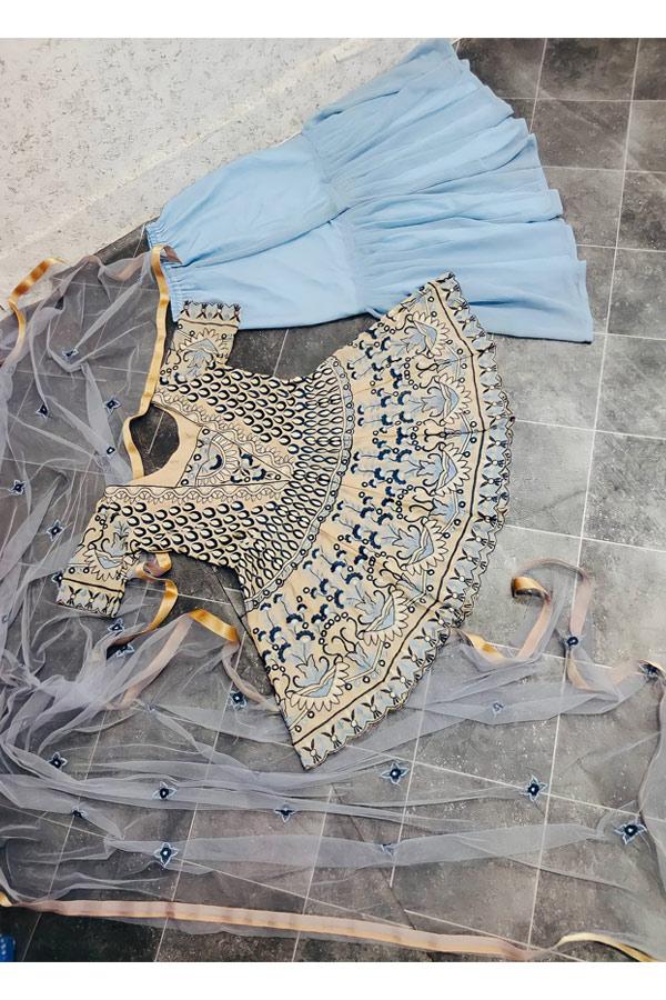 Party wear Punjabi Sharara suits online.