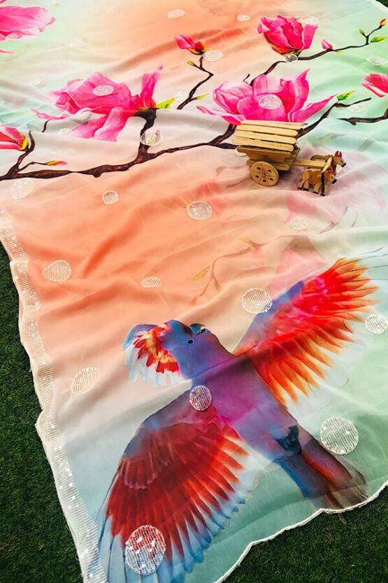 Party wear saree new design 2021 Latest