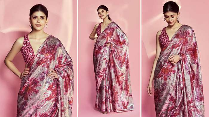 saree for farewell party in school