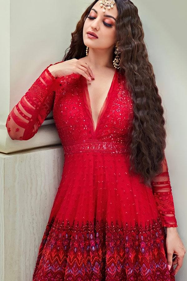 Sonakshi sinha Red gown online Shopping
