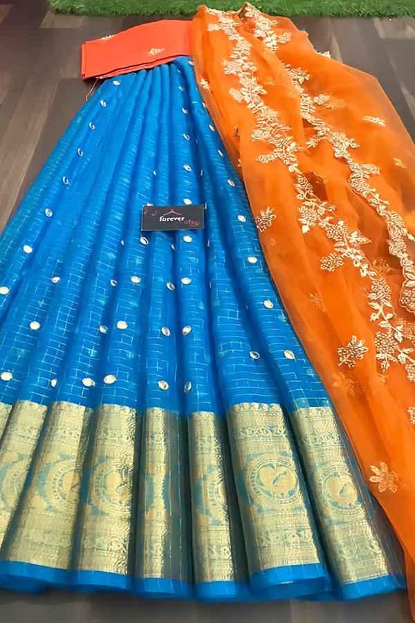 South Indian half saree online Shopping