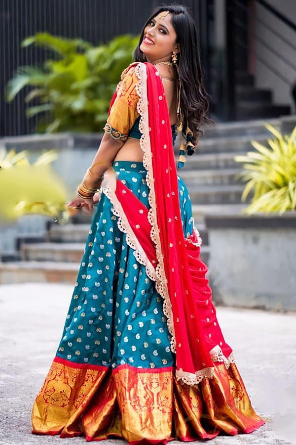 Traditional half saree designs online shopping (2)