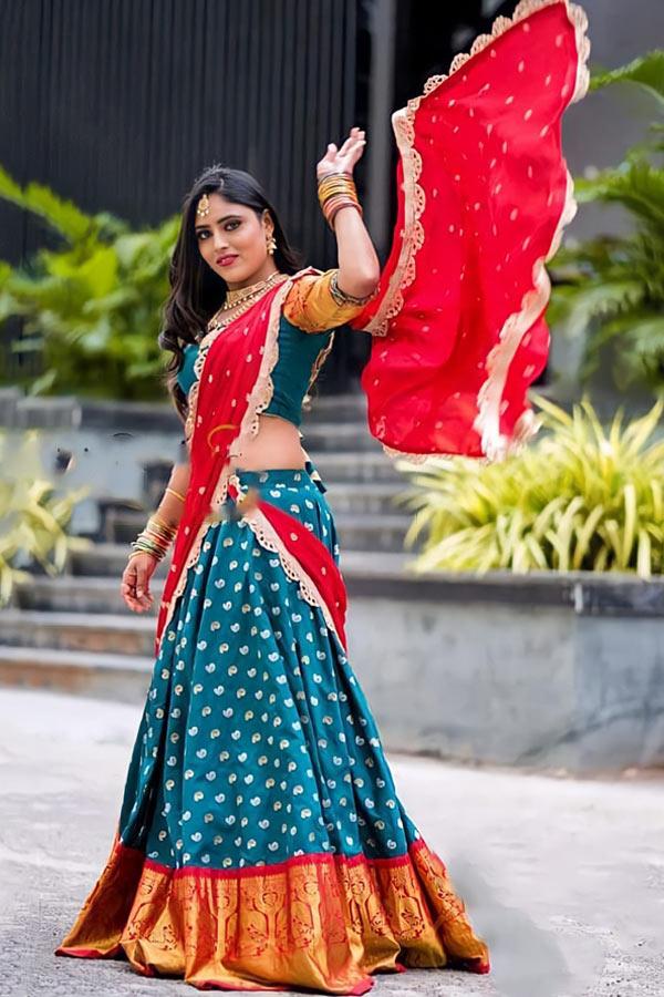 Traditional half saree designs online shopping
