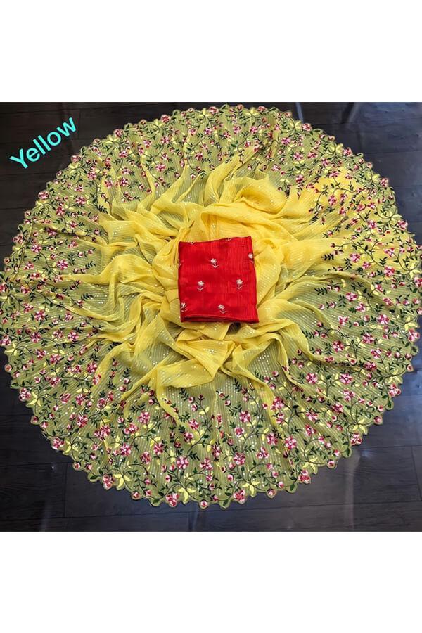 durga puja saree collection 2021 yellow