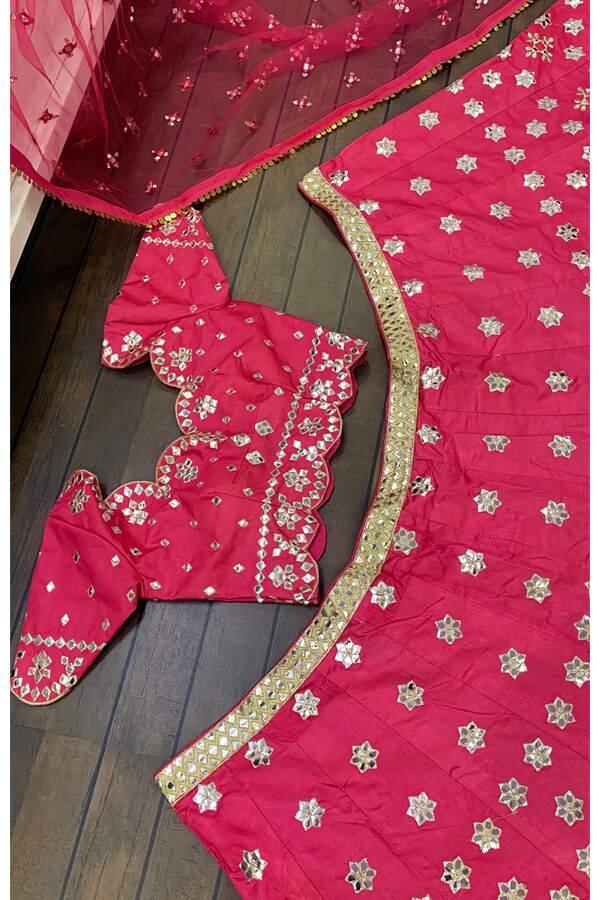 pink lehenga for wedding