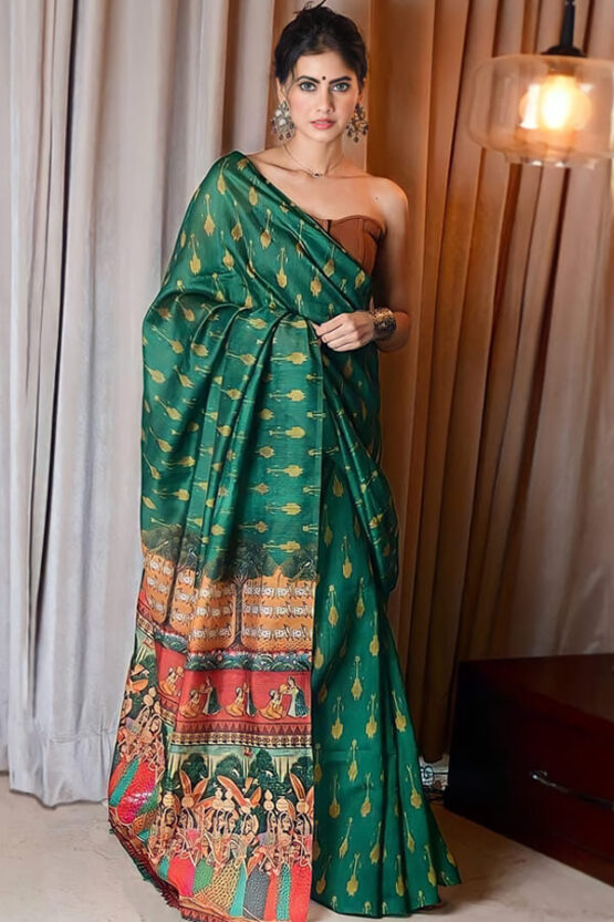 pure Cotton linen saree online india for girls