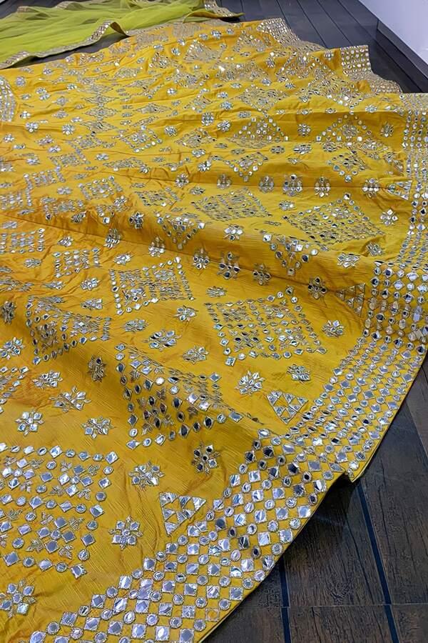 stylish lehenga for haldi ceremony BUY