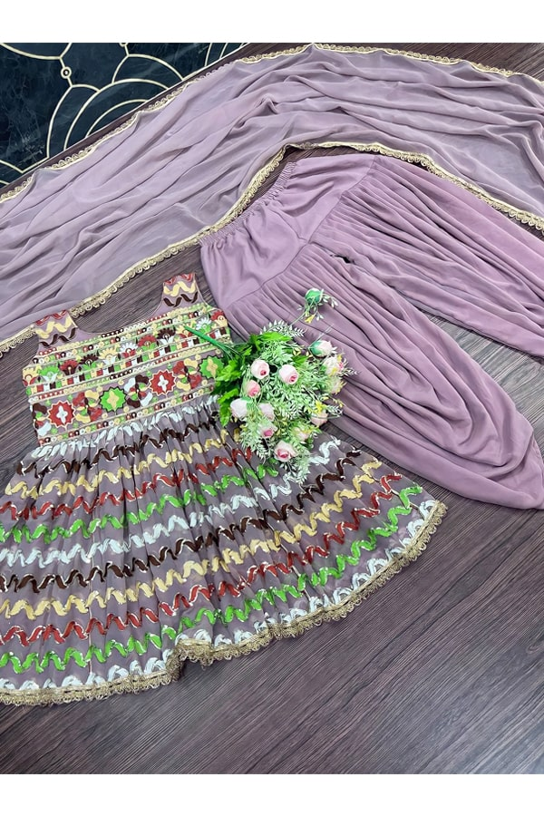 Dhoti and crop top for Wedding girl