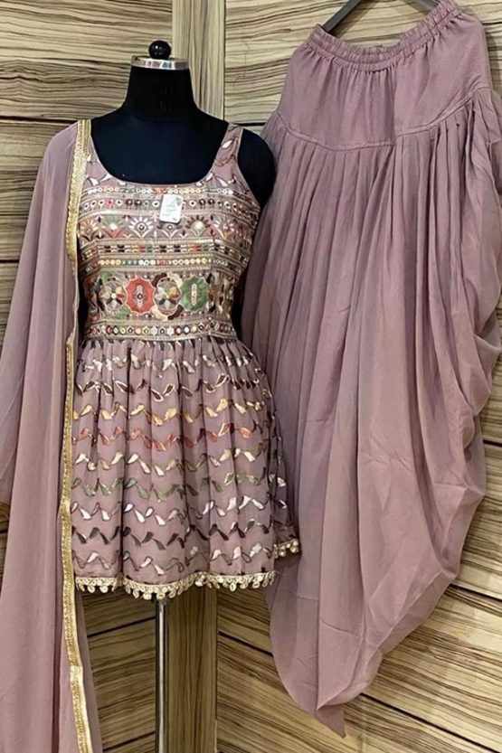 Dhoti and crop top for Wedding girls