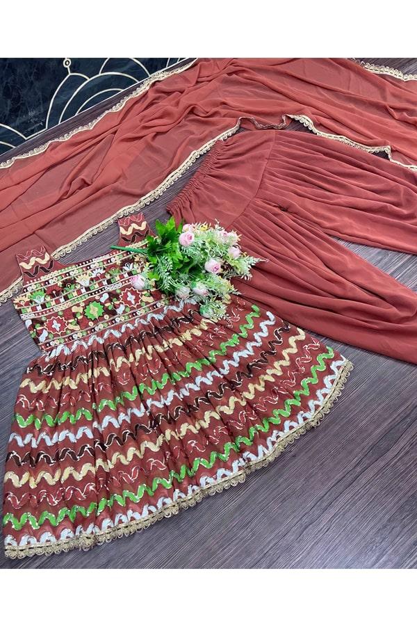 Dhoti crop top with Dupatta online.