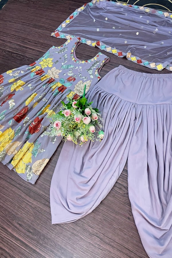 Dhoti style dresses for ladies girls.
