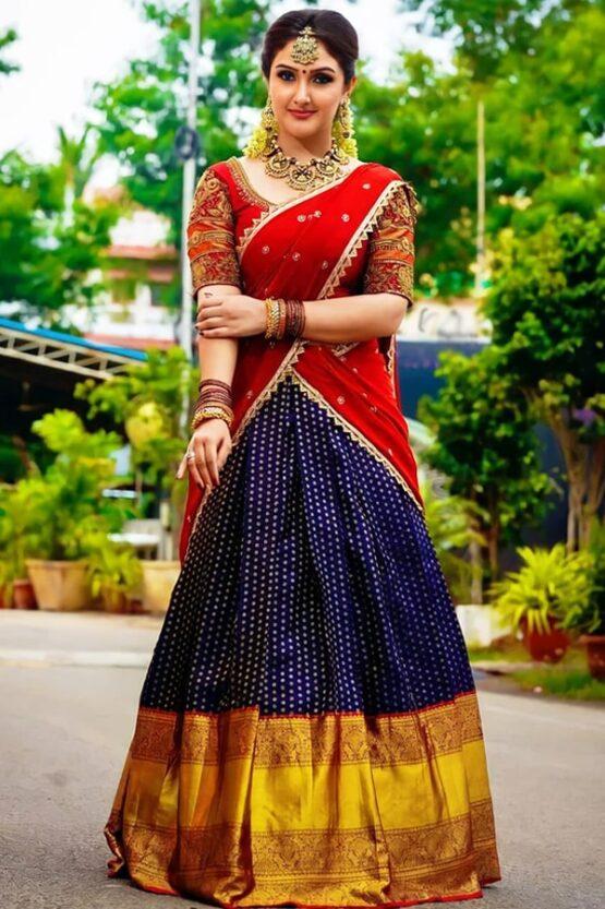 Half saree new model 2021 South Indian
