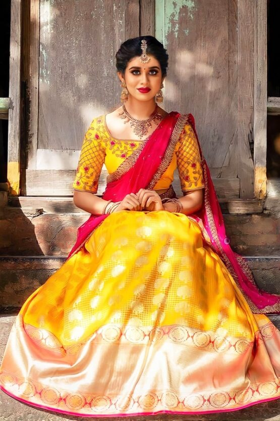 Half sarees for wedding with price (2)