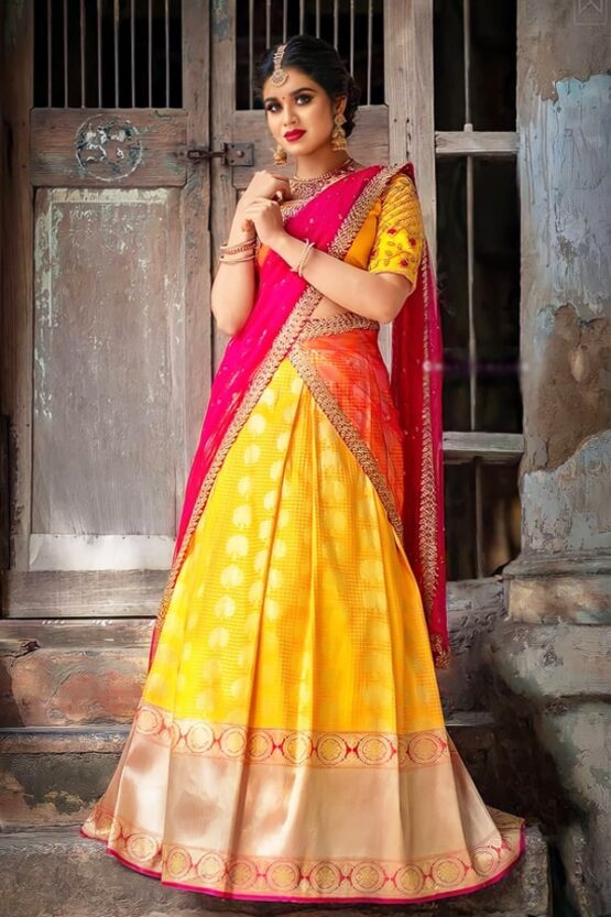Half sarees for wedding with price