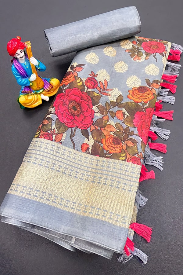 Handloom Khadi cotton saree with price