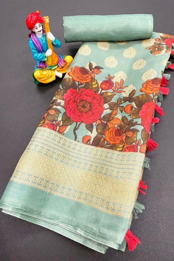 Handloom Khadi cotton sarees with price