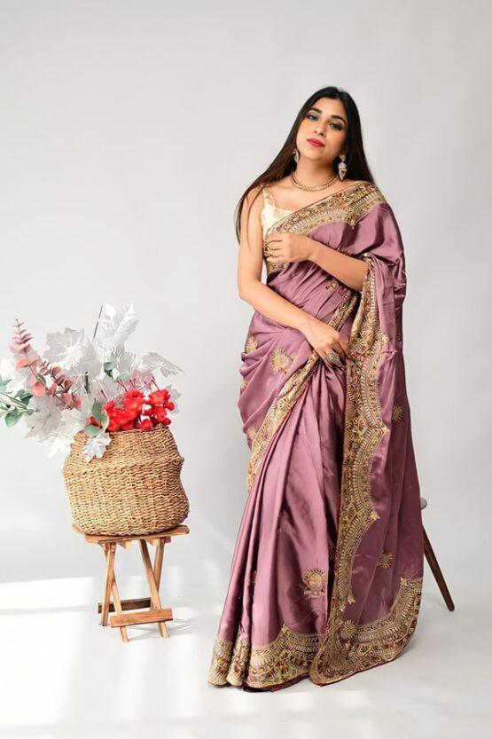 Indian wedding guest Saree Look silk
