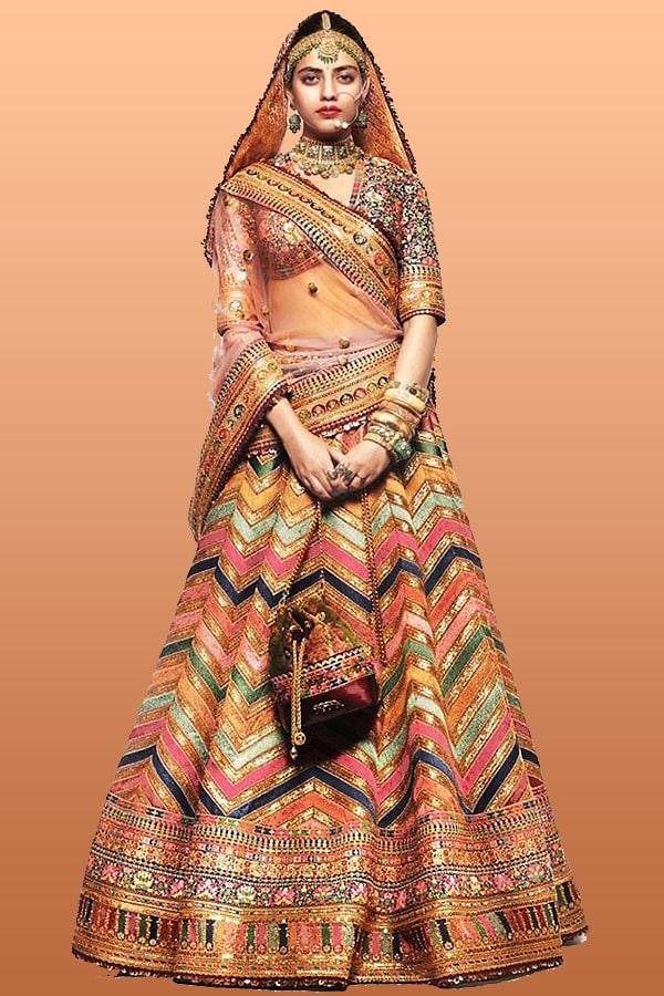 Latest bridal lehenga designs 2021 with price