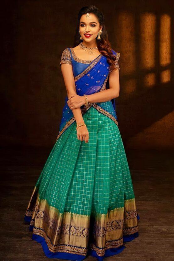 Latest half saree designs 2021 New model