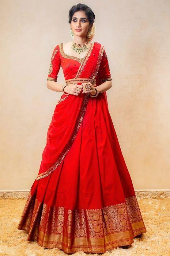 Latest half saree designs 2021 for Wedding