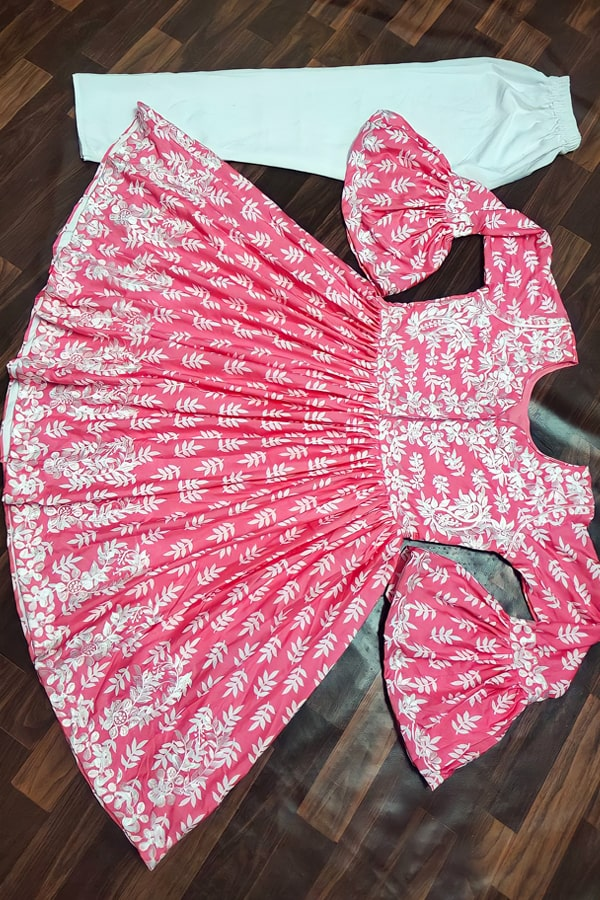 Latest kurti design Images 2022 Girls pink.