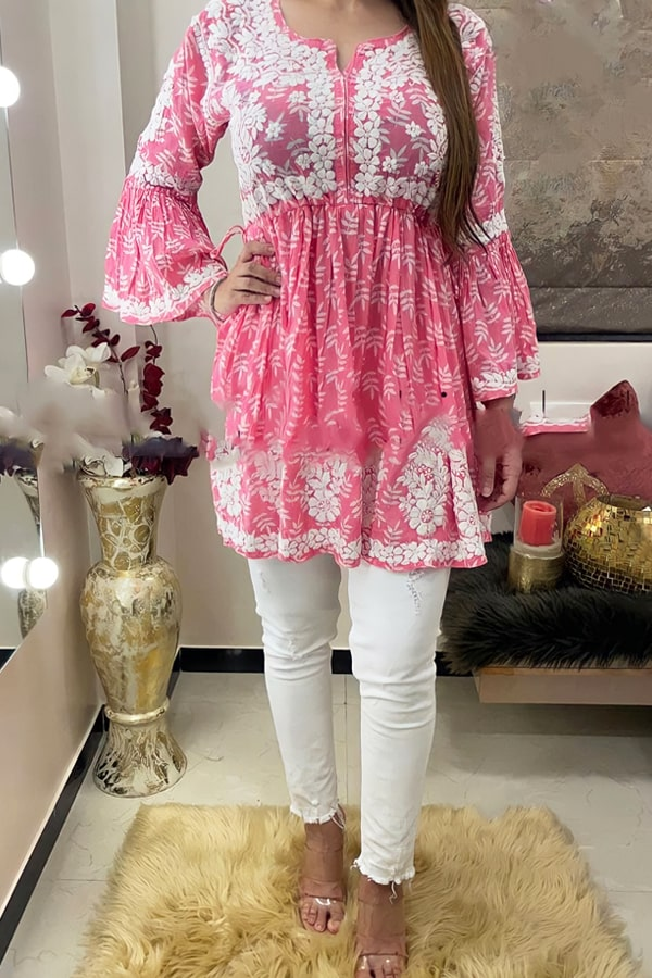 Latest kurti design Images 2022 Girls pink
