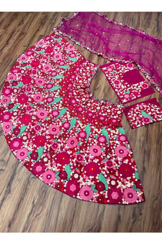Latest lehenga designs 2021 for girl pink