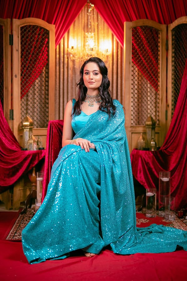 Latest party wear Sarees 2022.