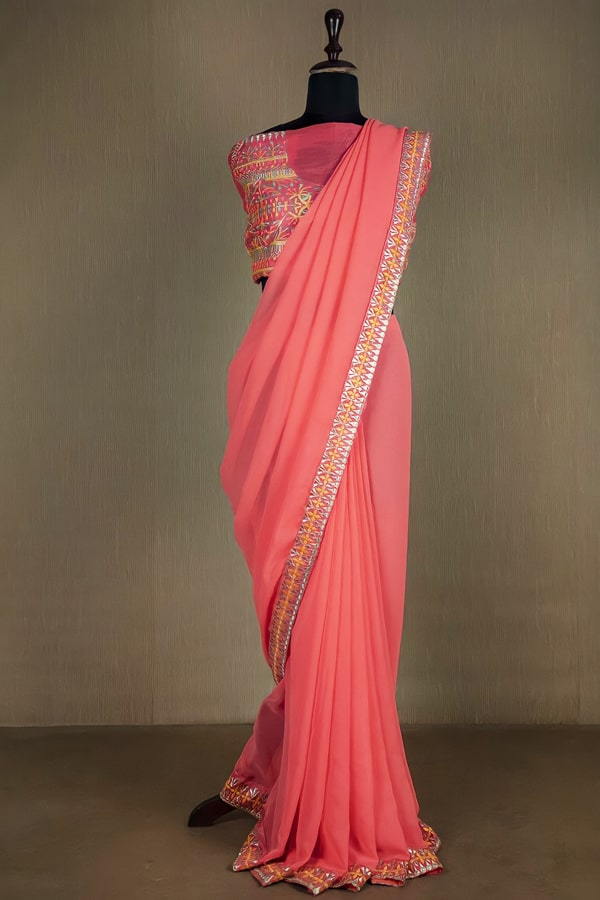 Latest party wear sarees 2022 (2)