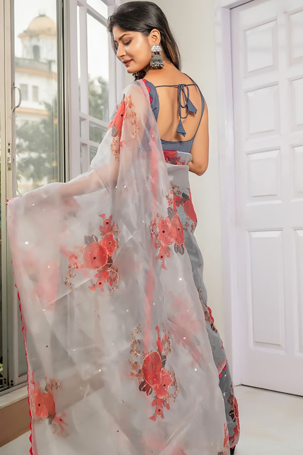 Latest party wear sarees 2022 for unmarried girl