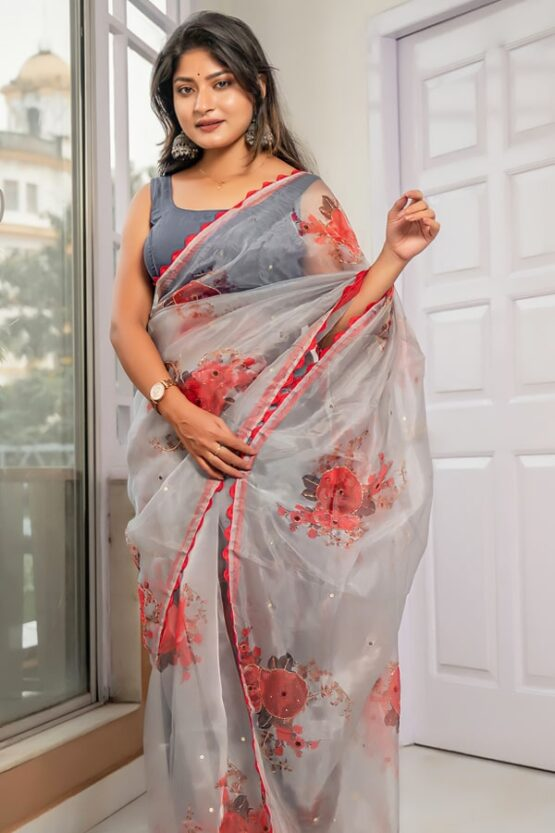 Latest party wear sarees 2022 unmarried girl