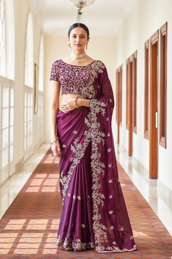 Latest wedding sarees collection 2021-2022 (2)