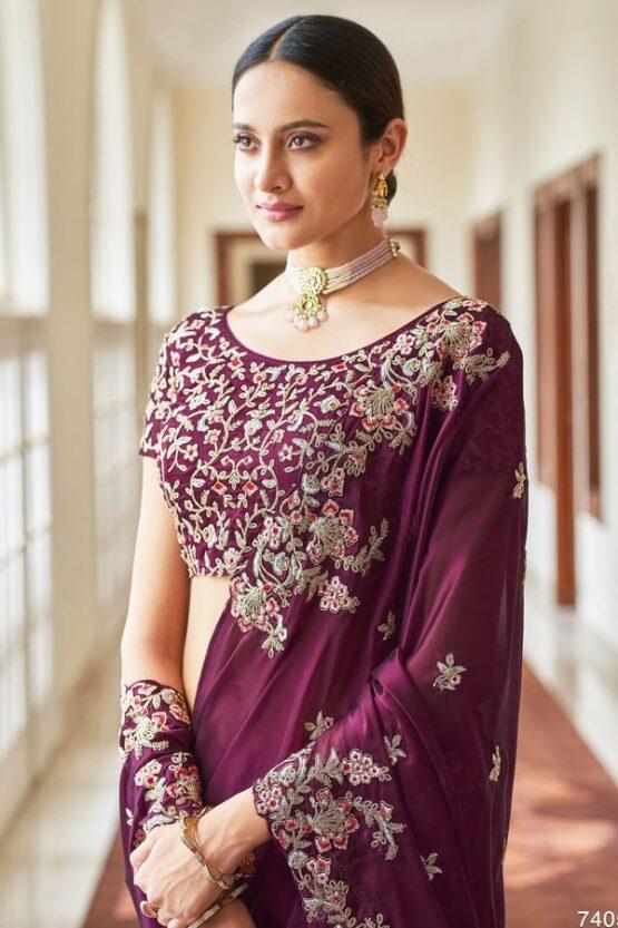 Latest wedding sarees collection 2021-2022