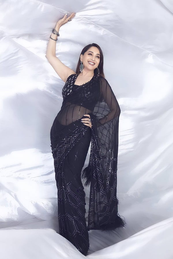 Madhuri dixit black saree Dance deewane 3