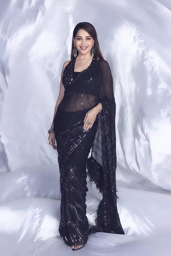 Madhuri dixit black saree Dance deewane