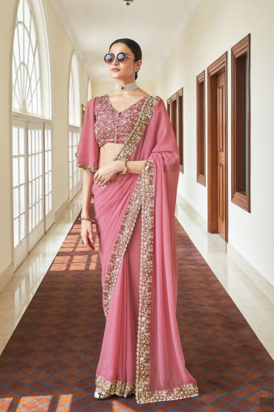 Marriage function dress for female pink